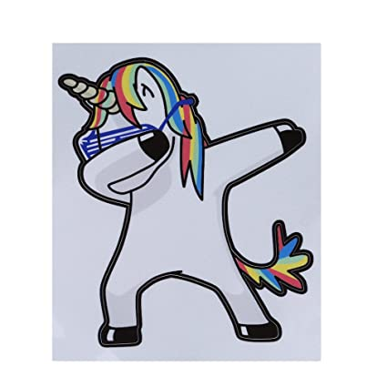 Dolland unicorn car decal vinyl sticker rainbow cool unicorn tattoo sticker for mobile phone macbook