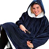 Huggle Hoodie - Sudadera Unisexo con Capucha Ultra Plush Manta, Invierno Caliente Chaqueta Reversible Talla Única para…