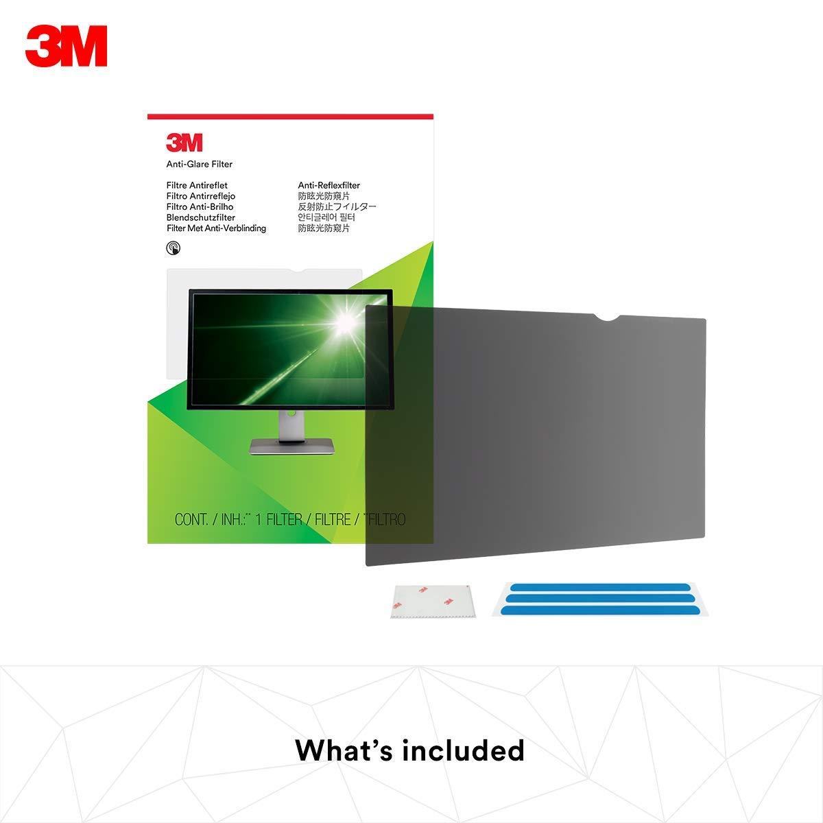 Black 3M Computer Privacy Screen Filter for 24 inch Monitors Widescreen 16:10 PF240W1B