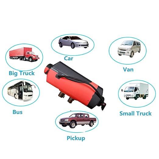 Calefacción para vehículos de Gaeruite 5 KW, para camioneta, bus o caravana, 12 V, 24 V 5000 W, diésel: Amazon.es: Coche y moto