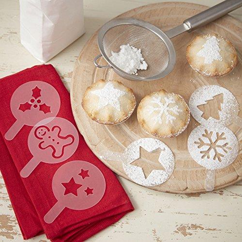 Deko Schablonen Weihnachten für Kuchen,Kekse,Kaffee & Cappuccino