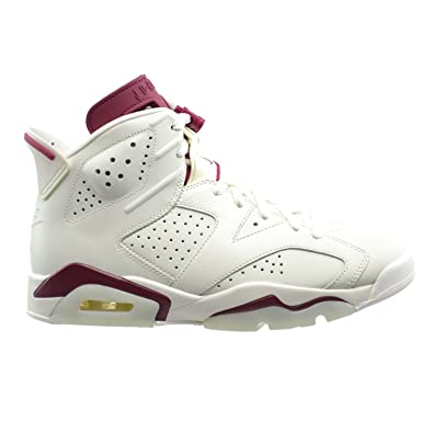 Jordan Air 6 Retro Men's Basketball Shoes Off White/New Maroon 384664-116 (