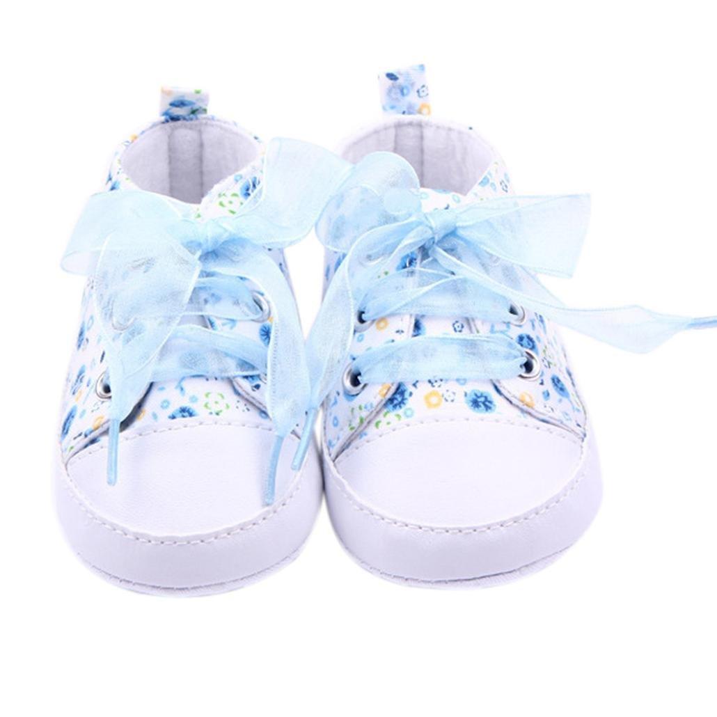 squarex Zapatos de bebé Floral Infant Suela Suela Suave Bebé ...