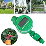 TOPmountain Garden Periodic Watering Plant Flower Lcd Screen Display Automatic Irrigation System Sprinkler Timer Green Device