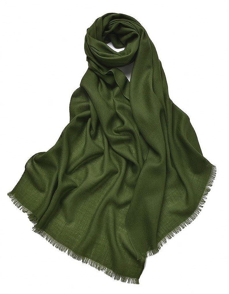 Prettystern Wolle Einfarbig 80 Garn Unifarbe Pashmina Schal