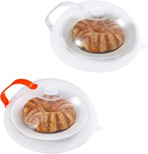 Microwave Splatter Cover, Microwave Cover for Food, Large Microwave Plate Cover Guard Lid with Steam Vents Keeps Microwave Oven Clean, 10.5 Inch BPA Free & Dishwasher Safe-2 Pack