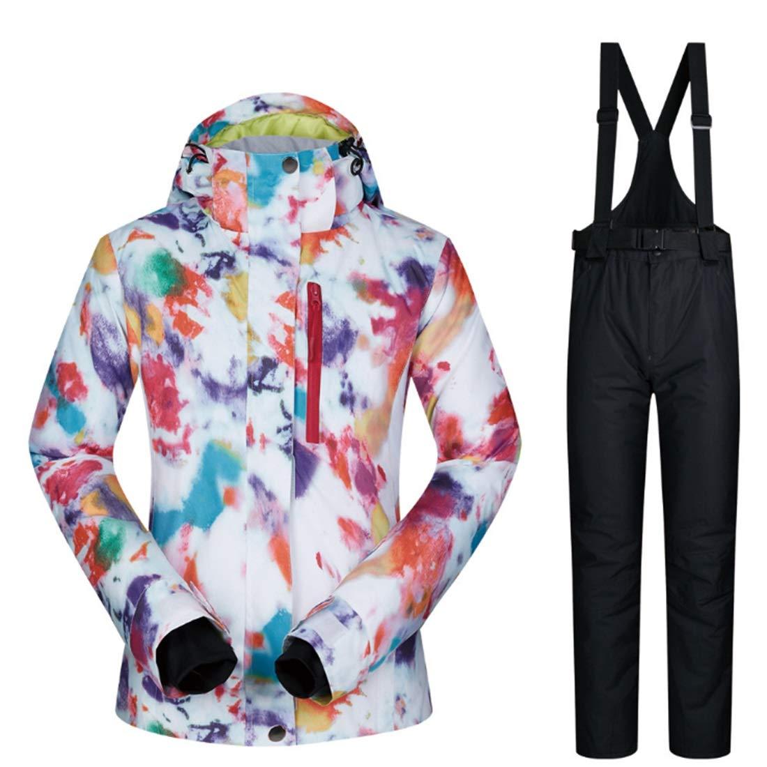 FELICIOO Snowsuit da Donna Winter Giacca da da da Sci e Pantaloni Set Antivento e Impermeabile (Coloree   08, Dimensione   S)B07KF7TX6WSmall 03 | Caratteristico  | Credibile Prestazioni  | Elevata Sicurezza  | Il colore è molto evidente  | Stili diversi  | 9addf5