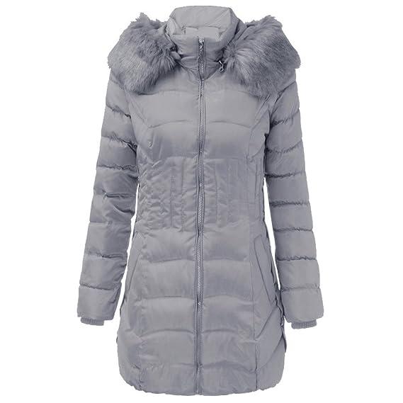 CICIYONER Parkas Mujer, Chaquetas De Mujer, Chaqueta Larga de Invierno para Mujer Abrigo Delgado de algodón cálido Parka Trench Outwear: Amazon.es: Ropa y ...