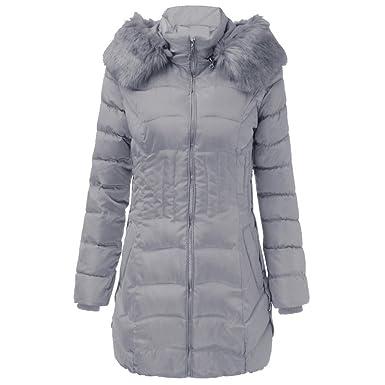 new styles 4f996 00b47 HWTOP Wintermantel Daunenjacke Damen Übergangs Jacke Outwear ...