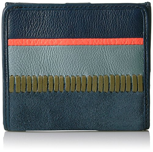 (Fossil Caroline Rfid Mini Wallet Navy Multi Stripe Wallet)