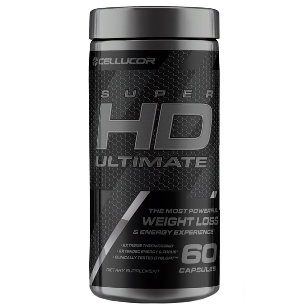 Cellucor SuperHD Ultimate Thermogenic Fat Burner & Weight Loss Supplement with Caffeine and Natural Metabolism Boosters, 60 Capsules by Cellucor