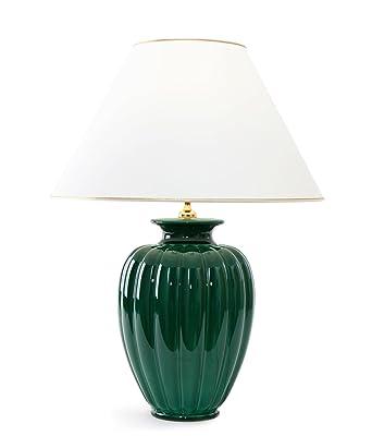 Tischleuchte Lampe Palazzo Verde Aus Keramik Grun Tischlampe E27