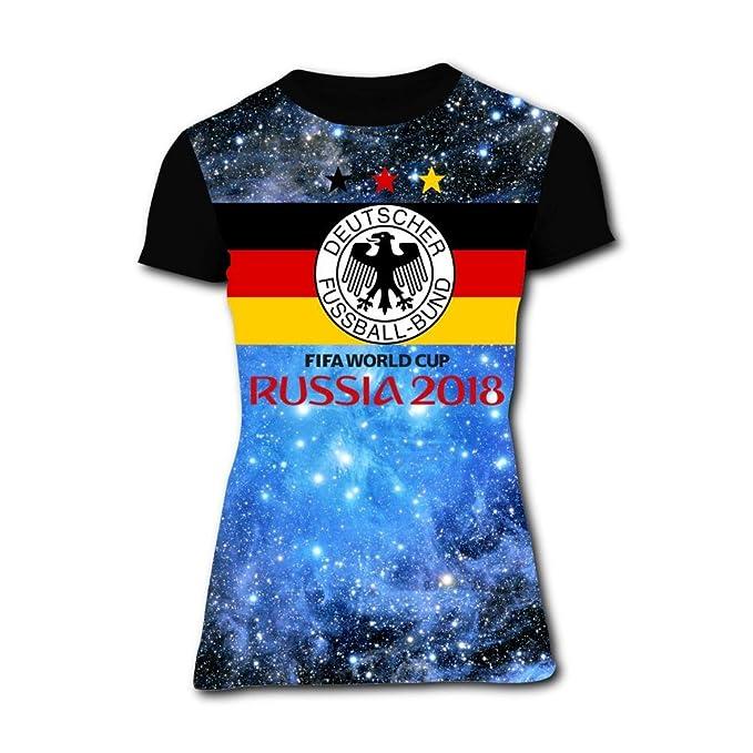 61ba1c214f6 Womens Germany National Team Football Summer Casual Short Sleeve Tee at Amazon  Women s Clothing store