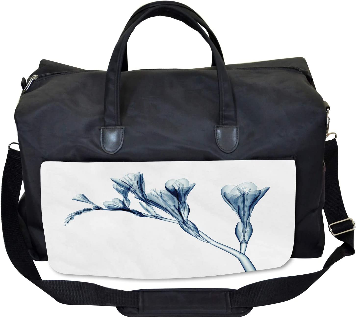 Ambesonne Flower Gym Bag Large Weekender Carry-on Abstract Modern Floral