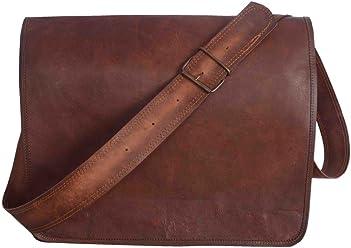 Novdurga handicraft Adult Leather Messenger Real Laptop Satchel Bag Briefcase