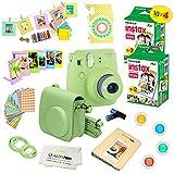 Fujifilm Instax Mini 9 Camera + Fuji INSTAX Instant Film (40 SHEETS) + 14 PC Instax Accessories kit Bundle - Lime Green