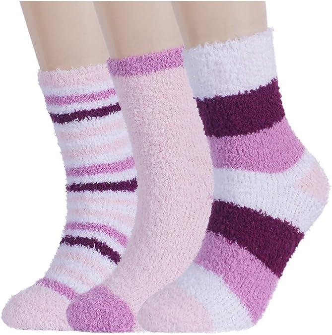 5 Pairs Bed Socks Winter Warm Women Men Soft Fluffy Lounge Slipper velvet Socks