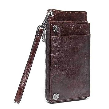 f238fe3046f6 Amazon.com: NHGY Men's Leather Wallet, Cross Section, Zipper Soft ...