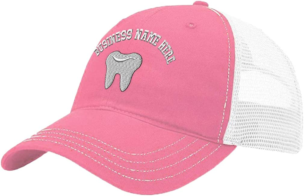 Custom Trucker Hat Richardson Tooth Embroidery Business Name Cotton Snaps