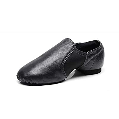 DoGeek Jazz Shoes for Women Dance Leather Upper Jazz Shoes Slip-on Dance Shoes for Adults& Teens, Black&Brown | Ballet & Dance