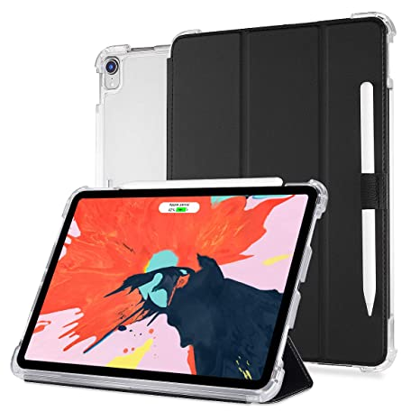 best sneakers c77ba 50c80 Valkit for iPad Pro 12.9 Case 2018 3rd Generation,iPad Pro 12.9 inch  Cover,Support Apple Pencil Charging,Protective Smart Folio Stand Cases with  Apple ...