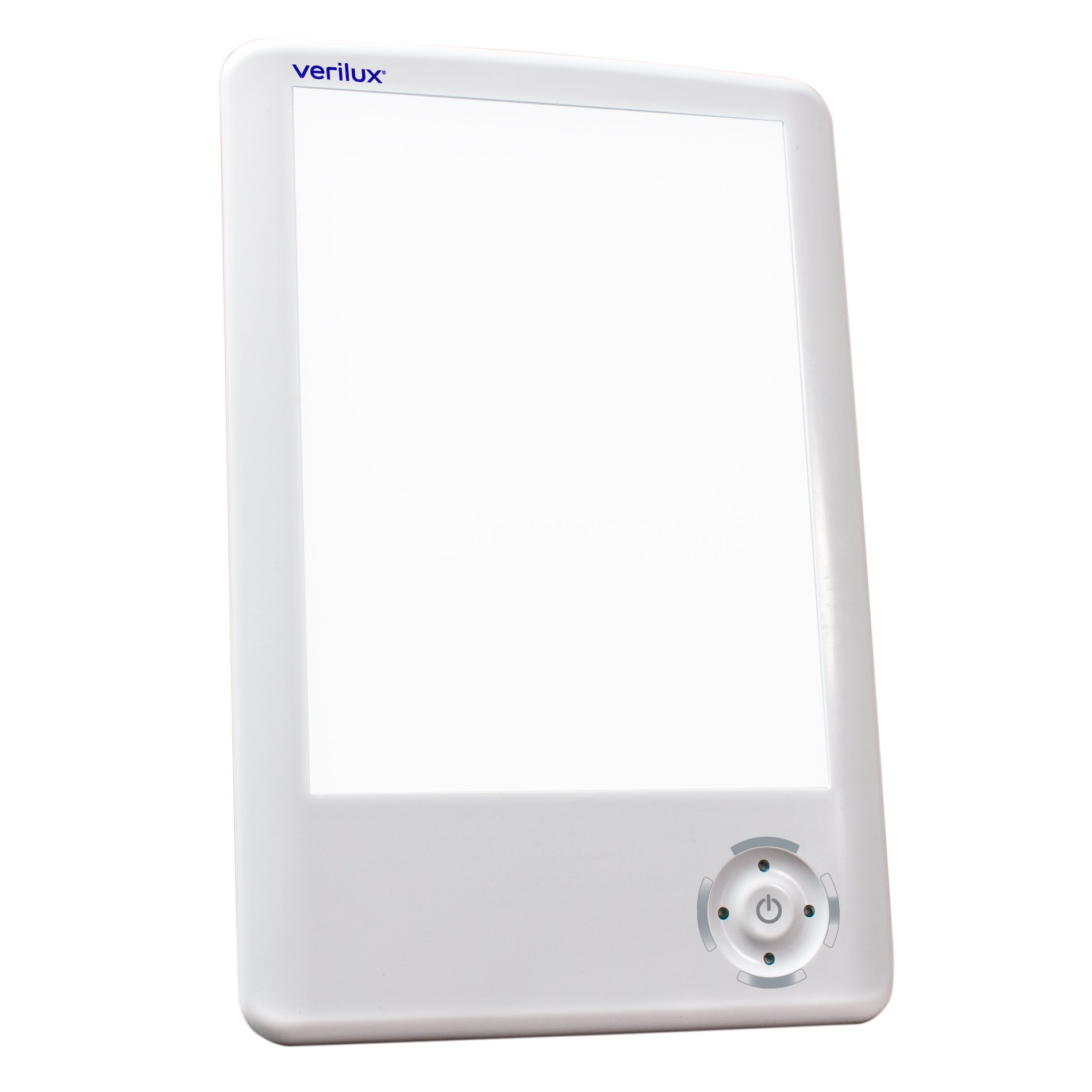 Verilux HappyLight Touch 10,000 Lux LED Bright White Light Therapy Tablet One Touch Timer Adjustable Lux Intensity