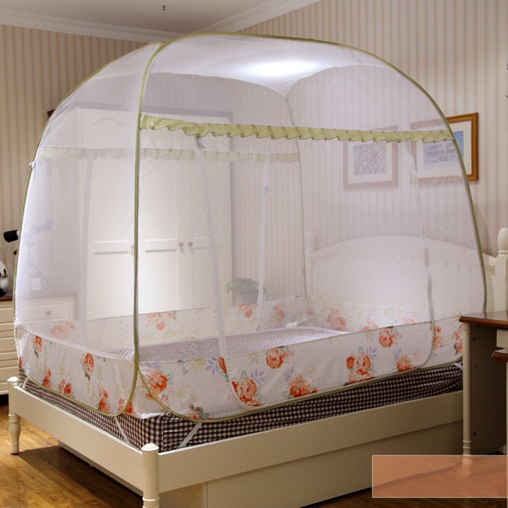 Moskitonetze MEIDUO Freie Installation Jurte Drei offene Türen quadratischen Reißverschluss doppelte Falten 3colors