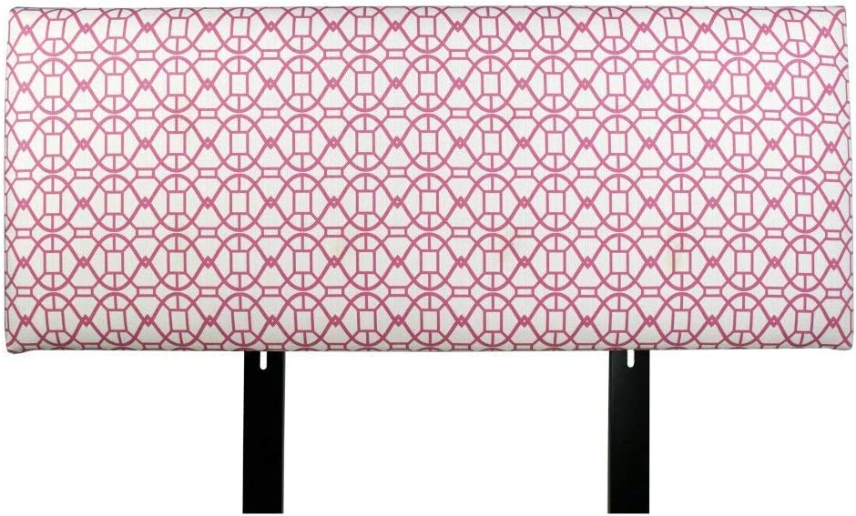 MJL Furniture Designs Alice Padded Bedroom Headboard Contemporary Styled Bedroom D cor, Noah Series Headboard, Blush Finish, Queen Sized, USA Made