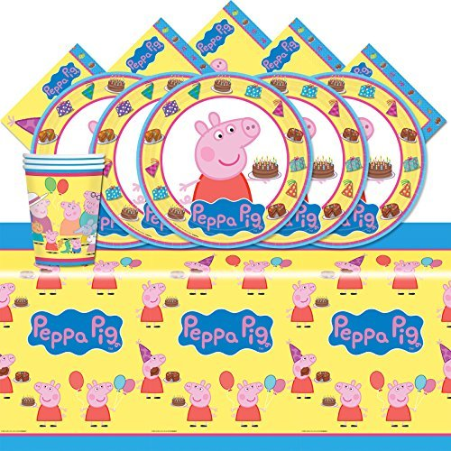 BirthdayExpress Peppa The Pig Party Pack for 16 ()