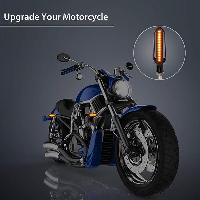 SANON Universal 4PCS 16 LED Motorcycle Motorbike Turn Signal Indicator Light Warning Lamp