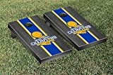 NBA Golden State Warriors 2015 NBA Champions Onyx Stained Stripe Version Cornhole Set