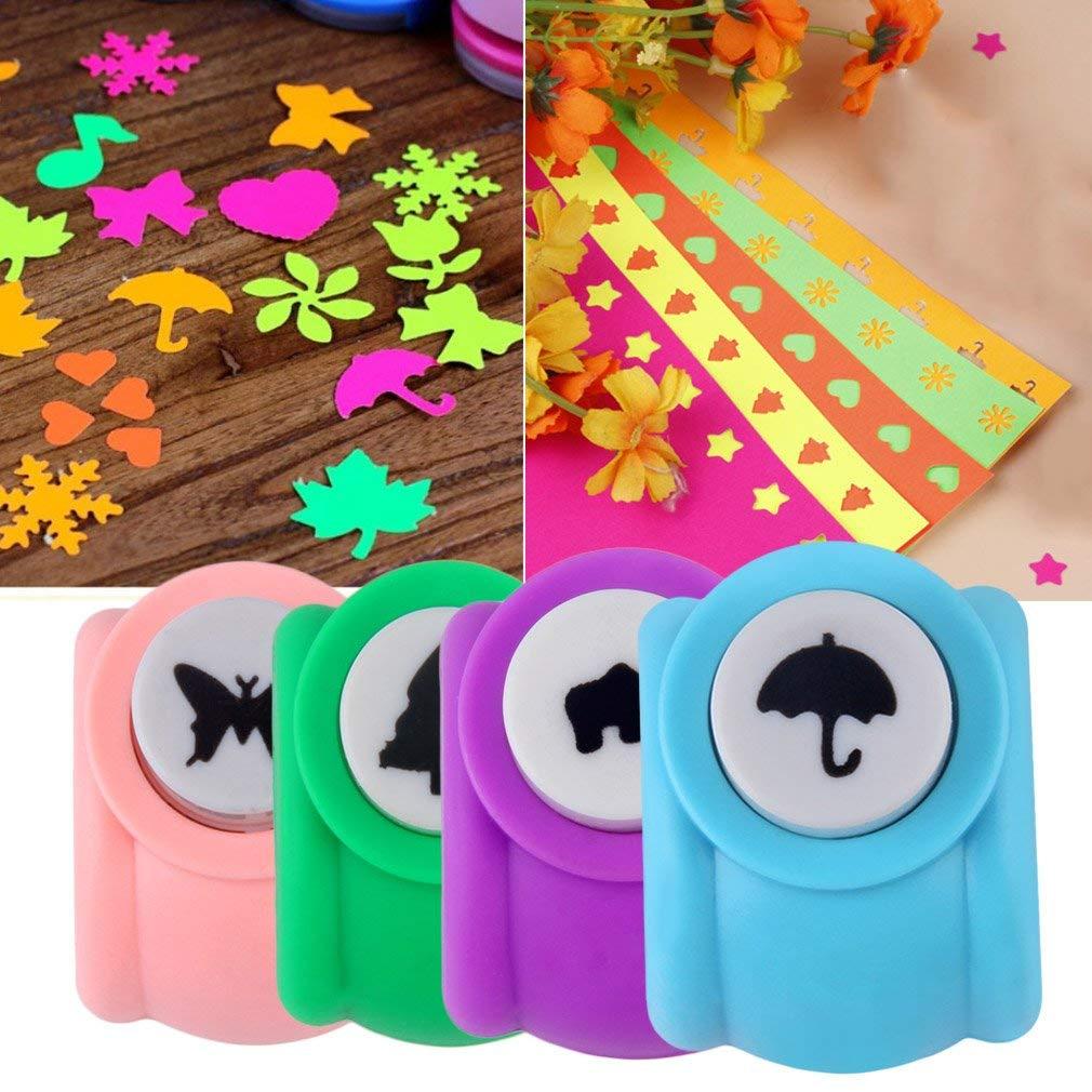 Hemore DIY Scrapbooking Decorativo Agujero Puncher Ni/ño Mini Puncher Impresi/ón Papel Artesan/ía Puncher Forma Tarjeta Craft Punch