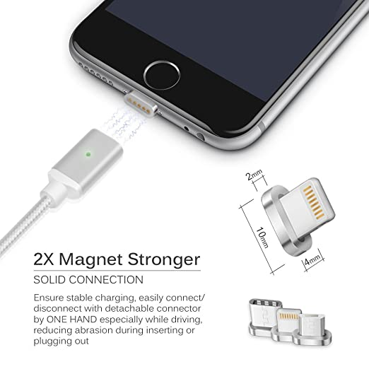 amazon com 3 in 1 3ft high speed charging magnetic cable nylon for