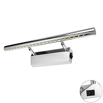 Liqoo Spiegelleuchte mit Schalter 5W LED Spiegellampe Bad Wandlampe ...