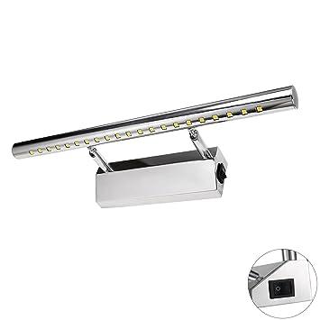 Liqoo LED Applique Salle de Bain avec Interrupteur 5W Blanc Froid ...