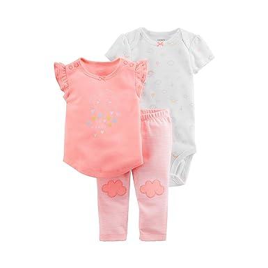 cb41f7439 Carter's Baby Girls 3-Piece Neon Little Character Set (Clouds) (3 Months