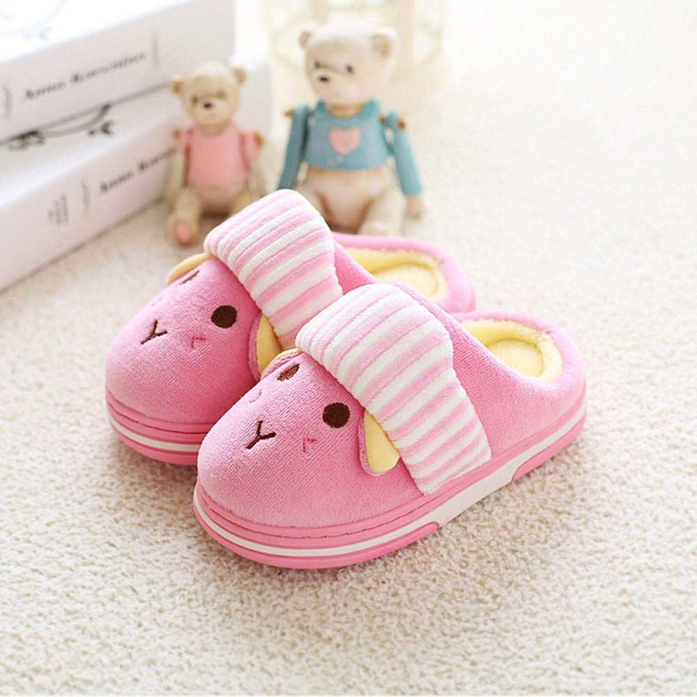 Lurryly❤Slippers,Baby Girls Boys Warm Winter Home Slippers Cartoon Indoors Floor Shoes 1-10 T