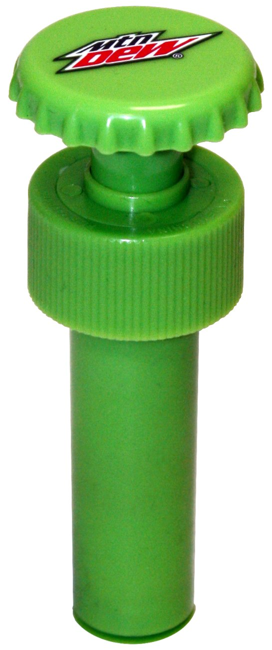 Jokari Mountain Dew Modern Logo Fizz Keeper Pump Cap Soda Bottle 18310P1