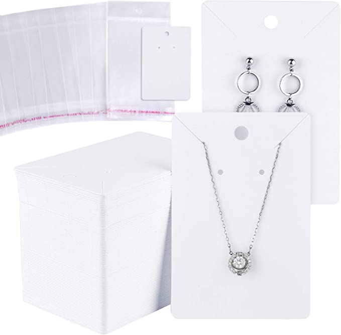 Necklace Cards Raised Customized Earring Cards Display Case Table Elevated DS0059 Packaging Jewelry Display