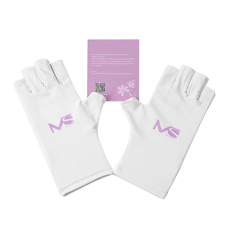 MelodySusie® UV Shield Glove Anti UV Glove for Gel Manicures with UV ...