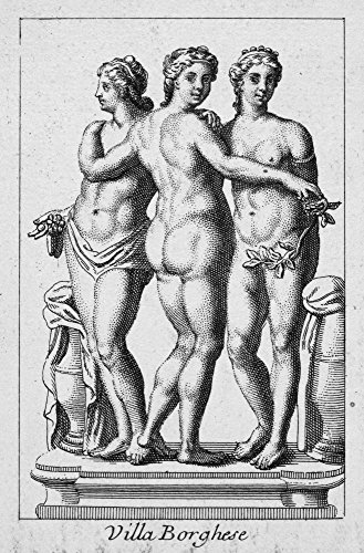 - Three Graces Ncopper Engraving Italian 18Th Century After A Sculpture At The Villa Borghese In Rome Italy Poster Print by (18 x 24)