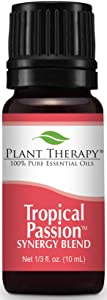 Plant Therapy Tropical Passion Synergy Essential Oil 10 mL (1/3 oz) 100% Pure, Undiluted, Therapeutic Grade