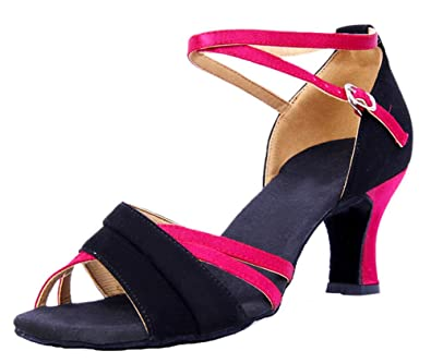 Honeystore Women&39s Thick Heel Ankle Strap Dance Shoes: Amazon.co