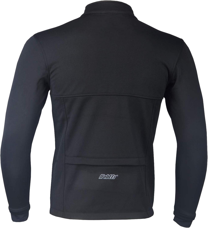 Mens Softshell Jacket Long Sleeve Winter Thermal  Reflective Cycling Running Top