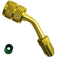 converts New R410A style 5/16SAE Service ports to Accept Older 1/4SAE Gauge hoses, mini Split Système Charging Vacuum Port adaptateur