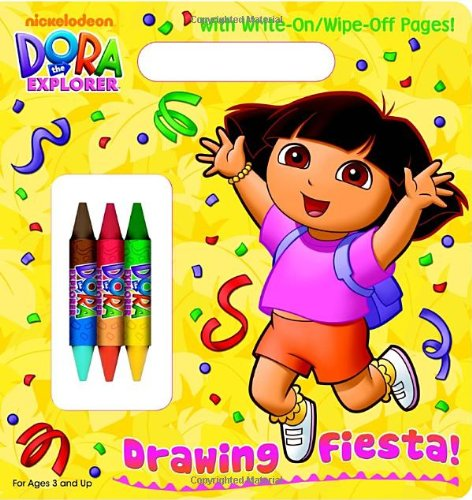 Download Drawing Fiesta! (Dora the Explorer) (Write-On/Wipe-Off Activity Book) pdf epub