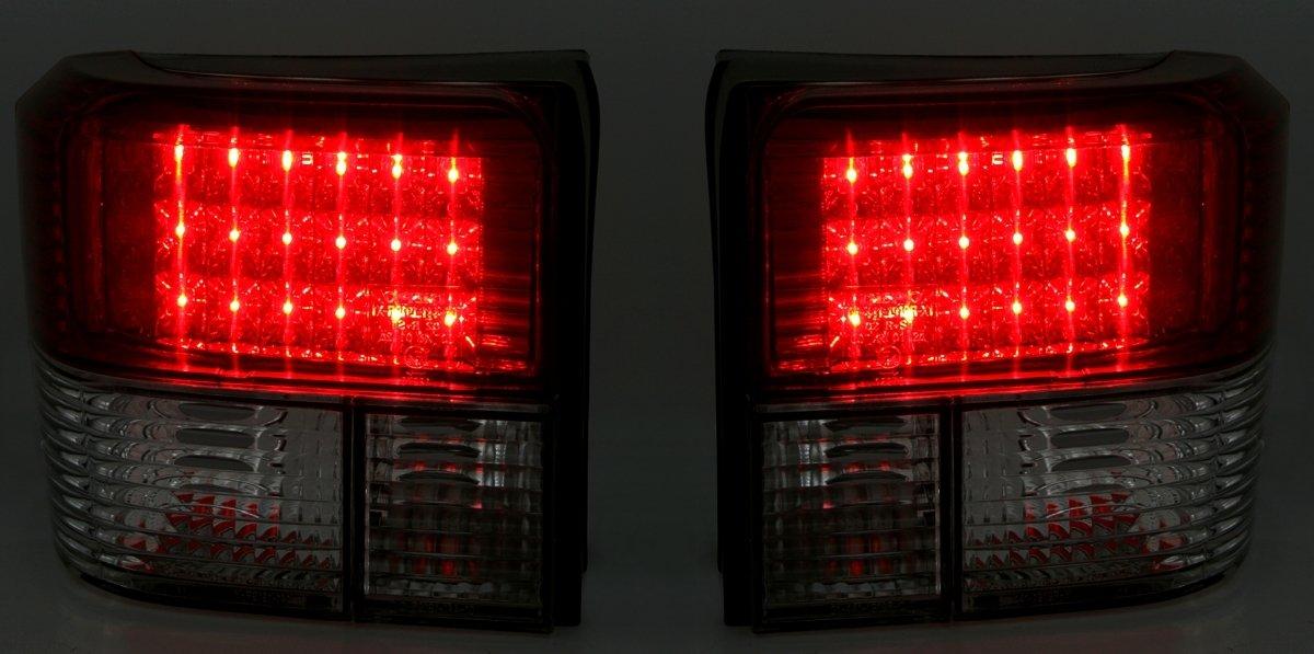 KG LED R/ã /¼ Ckleuchten Lot de Verre Clair/ /Rouge//Noir AD Tuning GmbH /& Co