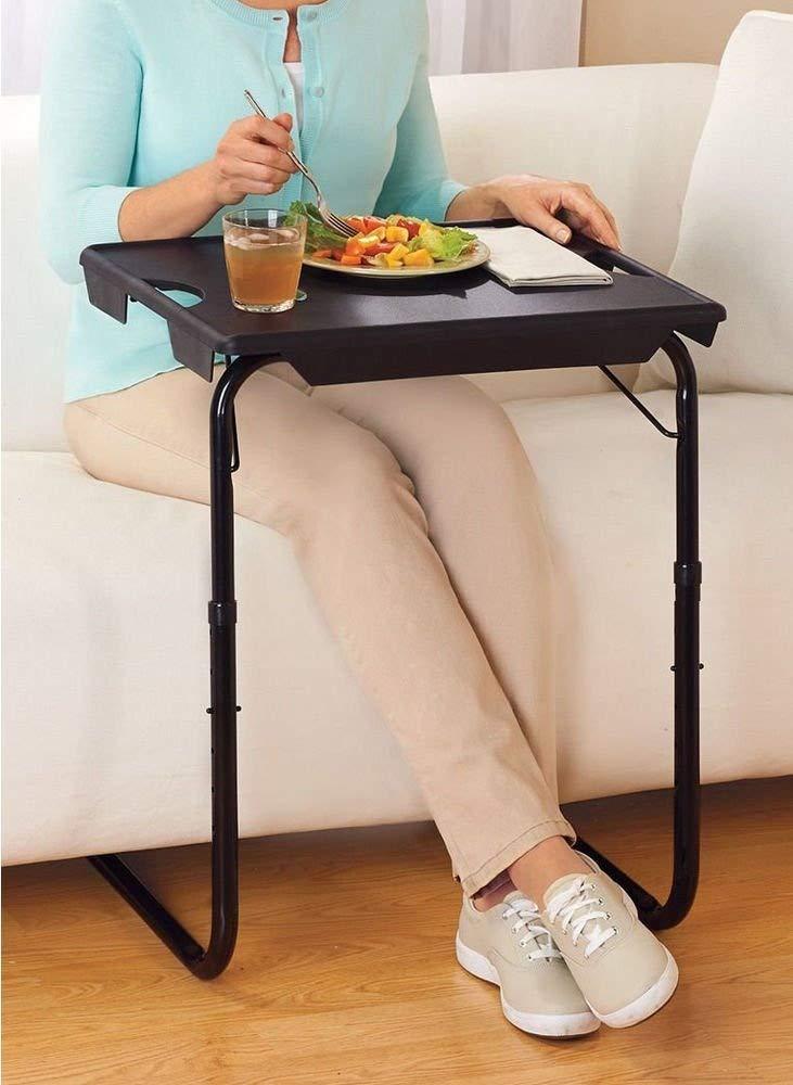 Portable & Foldable Comfortable Tv Tray Table (White)