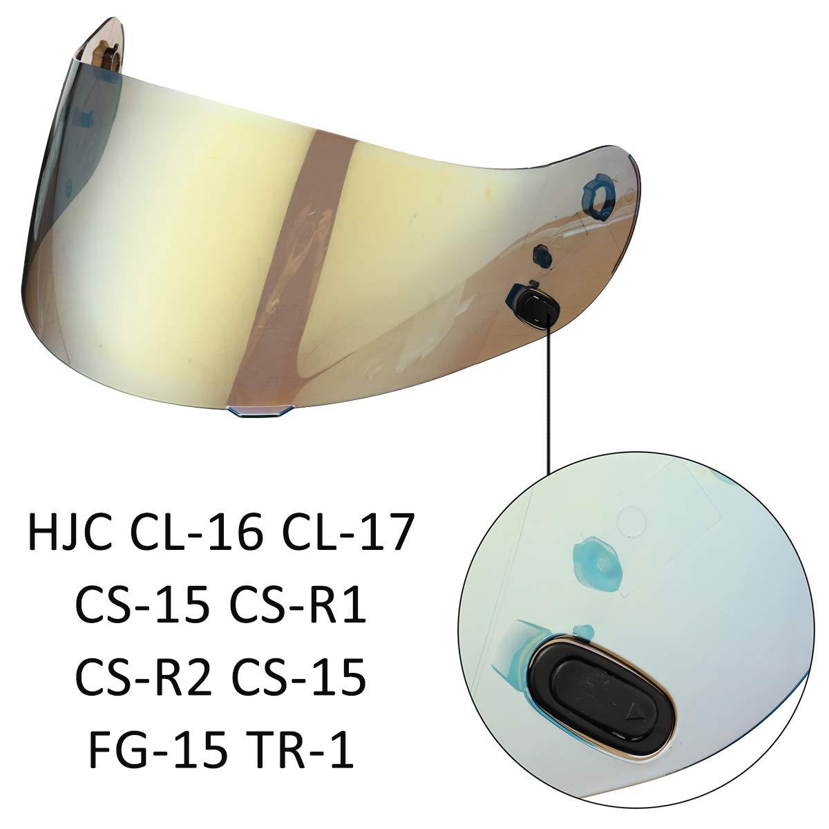 Bunten Viviance Motorradhelm Lens Schild Visor F/ür Hjc Cl-16 Cl-17 Cs-15 Cs-R1 Cs-R2 Cs-15 Fg-15 Tr-1
