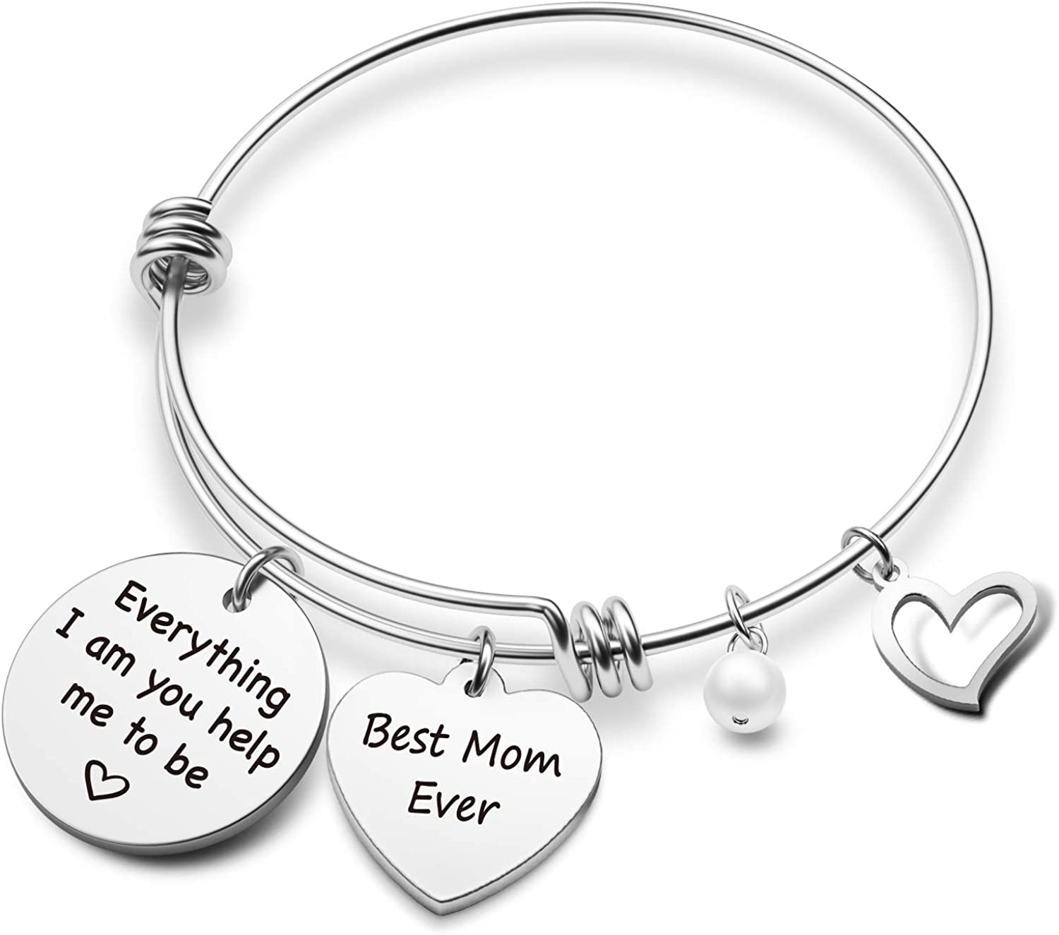 EIGSO Mothers Day Jewelry First My Mom Forever My Friend Bracelet Gift for Mom Mommy Bracelet Mom Gift Bangle for Mother Mom from Daughter Son